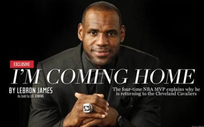 LeBron: I'm coming back to Cleveland